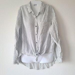 Universal Thread Front Tie Long Sleeve Shirt